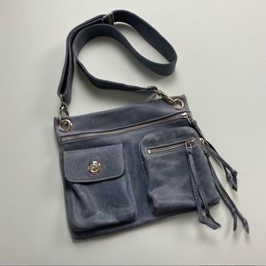 Roots leather the villager crossbody bag
